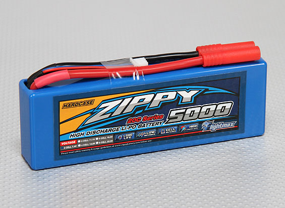 АкБ 5000mAh 2S1Р 20C 7,4v ZIPPY Hard Case